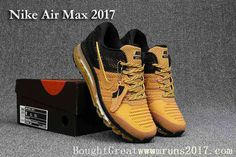 promo code 671df c7a32 New Nike Air Max 2017 KPU Men Black Gold Nike Shoes Outlet, Air Max Sneakers