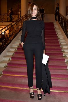 Carine Roitfeld attends the Fendi show.