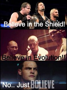 I will always Believe In The Shield I dont care what people say but Dean, Roman and Seth are perfect!!