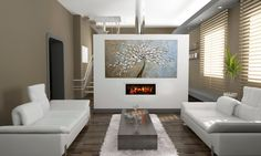 ART Abstract painting on canvas large Wall painting modern art, Original Oil painting, red Turquoise artwork by Largeartwork Loft Spaces, Living Spaces, Living Rooms, Virtual Fireplace, Realistic Electric Fireplace, Dimplex Electric Fireplace, Vinyl Wall Art, Sticker Vinyl, Wall Decals