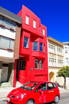 Red House On Russian Hill In San Francisco   www.mitchellfunk.com