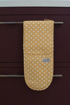 yellow polka dot ovengloves by ochre & ocre   notonthehighstreet.com