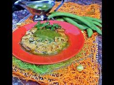 Frittata con fave su salsa di buccia di fave di Cucina Casareccia