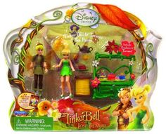 "Playmates Toys Disney Fairies Tinkerbell & The Lost Treasure Playset Tinkerbell & Terence Tea Party by Disney. $39.99. Includes Exclusive Terence figure, which is ~4"" tall.. Playset also includes a small tea set, a chest, and a thread spool table for the dolls.. Includes TinkerBell figure, ~4"" tall.. Tink has been selected to create the prestigious Autumn Scepter to celebrate the rare Blue Moon. Her best friend Terence is thrilled for her and promises to help her every step of..."