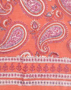 30x30 size is perfect head bandana size.  Anokhi USA: Hot Paisley cotton scarf