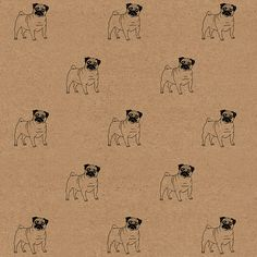 Peggy Sue the Pug wrapping paper, available in my Etsy shop https://www.etsy.com/uk/listing/294132297/wrapping-paper-pug-wrapping-paper-cute