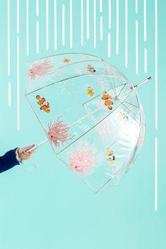 This DIY aquarium umbrella will make you wish for rainy days.
