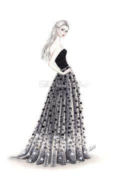 elie saab lace gown fashion (by thepaintedshoeart)