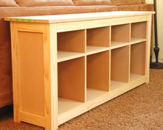 I want to make my own sofa table! How cool!