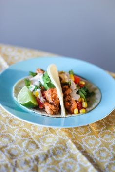 spicy honey-lime salmon tacos