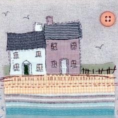 I'm currently moving house so there might be a shortage of pictures for a while, but hopefully not! Freehand Machine Embroidery, Free Motion Embroidery, Free Machine Embroidery, Embroidery Applique, Fabric Cards, Fabric Postcards, Sewing Appliques, Applique Patterns, Fabric Pictures