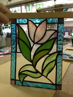 Pink Tulip Stained Glass