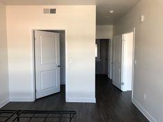 Master bedroom (looking towards entry and bathroom)