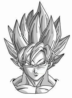How to Draw manga: Goku Super Saiyan from Dragonball Z
