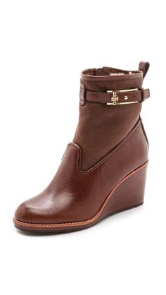 @Tory Burch booties at @Shopbop - shearling inside for warmth!