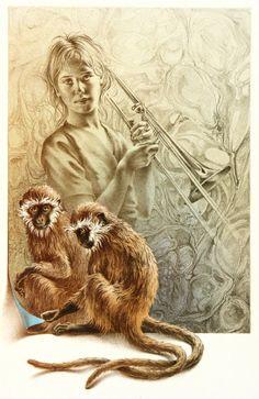 Poen de Wijs Art Work Обезьянье Искусство, Нассау, Картины Животных,  Карандашное Искусство, 43657aa9962