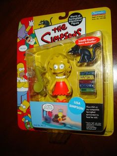 The Simpsons Wave 1 Action Figure Lisa Simpson Hard to Find!///have it but mines open:(