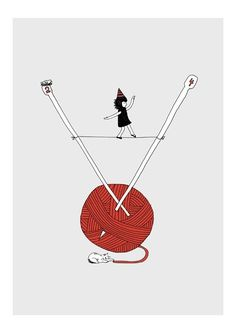 Yarn girl.  Love.