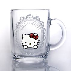 Hello Kitty mug glass (frame) Candy Red