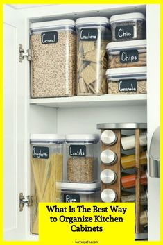 Kitchen Cabinet Organizers (Corner and Pull Out Organizer Ideas) Dish Organization, Small Space Organization, Kitchen Cabinet Organization, Storage Cabinets, Best Kitchen Cabinets, Kitchen Drawers, Base Cabinets, Kitchen Organizers, Cabinet Organizers