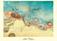 !F134 Sea Horse by Fran Evans for Two Bad Mice cards