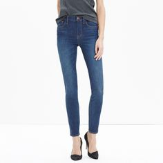 "Taller 9"" High-Rise Skinny Jeans in Surfside Wash"