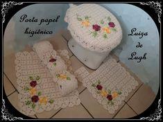 Jogo de Banheiro Crochê - Porta papel #LuizadeLugh