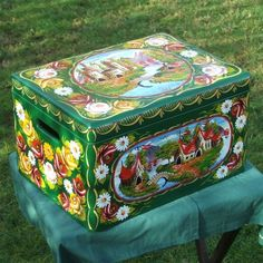 Canal Arts by Terence - Artwork - Canalware - 'Roses and Castles' - Boxes