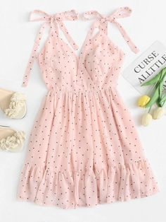 59 Ideas Clothes For Women Style Polka Dots Cute Summer Outfits, Girly Outfits, Cute Casual Outfits, Pretty Outfits, Dress Outfits, Summer Dresses, Winter Outfits, Trendy Dresses, Cute Dresses