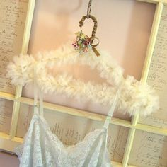 tulle covered hanger by andrea singarella, via Flickr