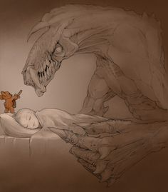 This is why you MUST sleep with a teddy bear. > Now do you understand why I STILL sleep with my teddy??? Because of the MONSTERS DUH!