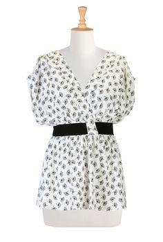 Women's designer fashion - Shop womens short sleeve tops - Discover the latest in Ladies Fashion, Tops, Tunics, Shirts - | eShakti.com