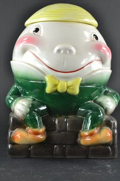 Humpty Dumpty Cookie Jar by Brush Ceramic by samanthasales on Etsy, $125.00