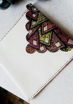 Pochette ethnique motif wax