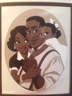 concept art of Eudora, James, and Tiana from the Princess and the Frog Disney Princess Tiana, Disney Princess Pictures, Cute Princess, Disney Concept Art, Disney Fan Art, Black Art Pictures, Frog Art, Arte Sketchbook, Nerd Art