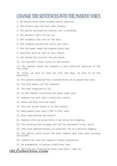 Passive Voice exercises