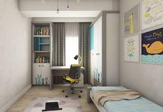 Kids Bedroom design by Mialmi Design Bedroom, Bedroom Inspo, Bedroom Decor, Kids Bedroom, Modern Contemporary, Bedrooms, Curtains, Interior Design, Colors