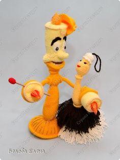 Игрушка Вязание крючком Горничная Фифи из м\ф Красавица и чудовище Пряжа фото 2