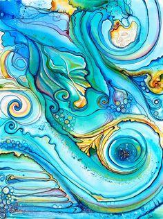 Tidal Drift    Abstract shapes and colors inspired by Hawaiian tidepools