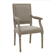 WOODEN ΑRMCHAIR W/BEIGE FABRIC 59X47X101 - Chairs - FURNITURE