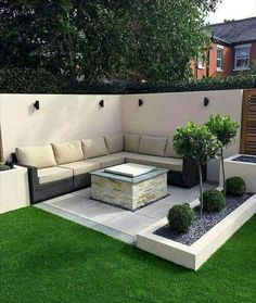 50 Awesome Modern Garden Architecture Design Ideas - PIMPHOMEE Best Picture For small patio backyard Small Courtyard Gardens, Small Courtyards, Courtyard Design, Courtyard Ideas, Front Gardens, Backyard Patio Designs, Small Backyard Landscaping, Backyard Ideas, Patio Ideas