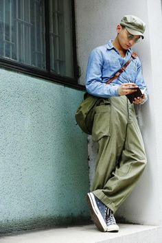 A collection of Steezy Asian Dudes curated by The Silentist Workwear Fashion, Mens Fashion, Fashion Outfits, Streetwear, Mode Vintage, Vintage Men, Japan Fashion, Looks Style, Men Looks