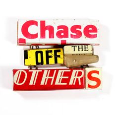 """Kat Cole: """"Chase"""" brooch """"Brooch in tin, found objects, brass and steel. 3 x 3 x .5"""". ($258) Exhibit: Women Working Words"""""""