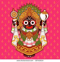 Jagannath, Indian Lord of the Universe Jai Jagannath, Jai Jagannath Ganesha Painting, Madhubani Painting, Ganesh Lord, Lord Jagannath, Lord Krishna Images, Indian Folk Art, Krishna Art, Hindu Art, Indian Gods