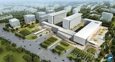 Tongzhou Maternity and Children Hospital Healthcare Architecture, Healthcare Design, Architecture Design, Modern Hospital, Hospital Design, Bone Diseases, Clinique, Master Plan, Kids Health