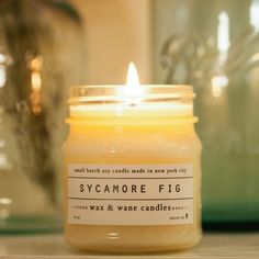 Wax and Wane Cnadles-Sycamore Fig Soy Candle - Scented Candle - Unique Gifts for Her - Custom Gift