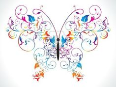 Abstract Colorful Rainbow Floral Butterfly Vector Illustration Royalty