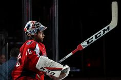 Goalie Braden Holtby #70 of the Washington Capitals takes the ice before playing against the San Jose Sharks during the second period at Verizon Center on November 8, 2016 in Washington, DC. (Nov. 7, 2016 - Source: Patrick Smith/Getty Images North America)
