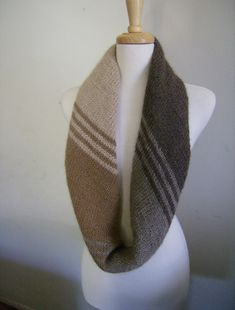 Eco Highland Duo Tilted Shadows  by Vera Sanon. Designer suggests that it can be worn as wrap, cowl or scarf. Knit on the bias. Free Pattern.