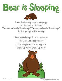 A fun winter song for preschool circle time. Bears Preschool, Preschool Music, Preschool Activities, Preschool Winter, Music Activities, Winter Activities, Therapy Activities, Preschool Camping Theme, November Preschool Themes